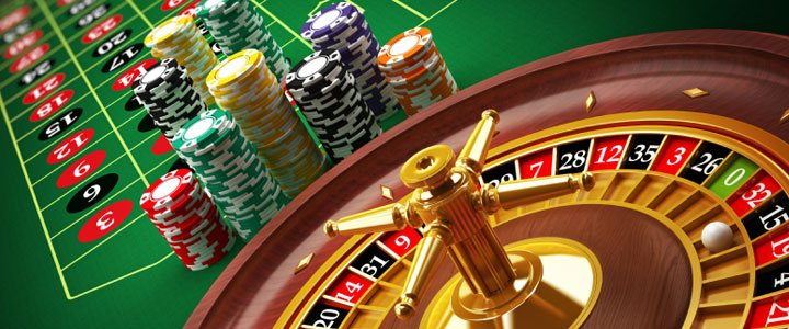 casino roulette table.
